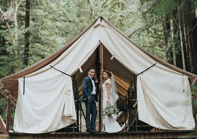 Unconventional wedding glamping