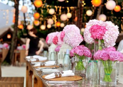 Flower design a tavola