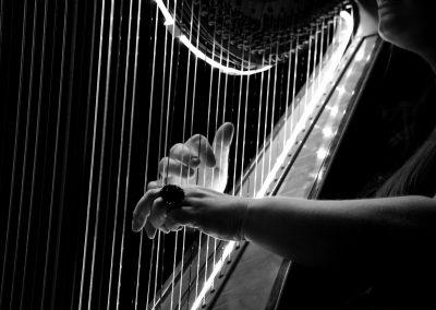 Musica con arpa luminosa