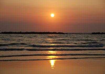 Spiagge al tramonto