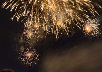 Fuochi d'artificio a cascata