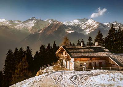 Chalet sulle Alpi
