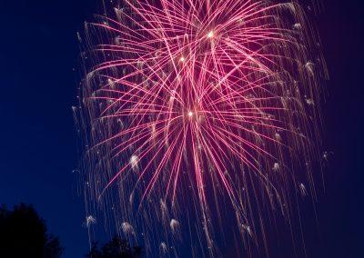Fuochi d'artificio romantici