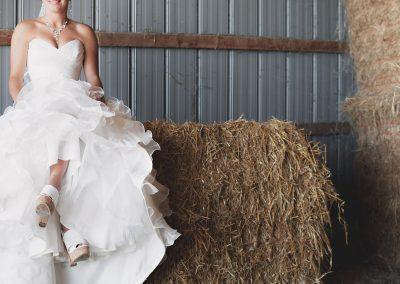 Unconventional wedding in un fienile